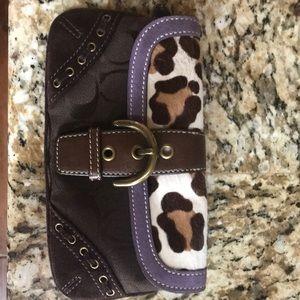 Coach wristlet/mini clutch